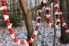 Add a Bird Feeder Garland to Your Trees: A bird feeder garland is both festive and functional.