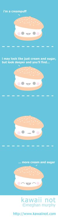 Kawaii Not - Creampuff Cute Comics, Funny Comics, Kawaii Potato, 4 Panel Life, Funny Cute, Hilarious, Cute Stories, Can't Stop Laughing, Cute Pins