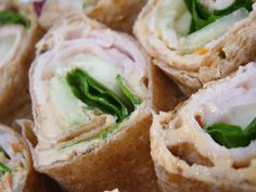 Easy sandwich pinwheels.  I followed this recipe which has a couple of cool tips and made them for some friends who raved about them. And they look pretty which I like.