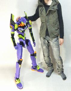 Sinta todo o drama de um Eva-01 gigante, feito de Lego