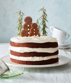 Gingerbread Cake with Maple-Mascarpone Whipped Cream | Williams Sonoma