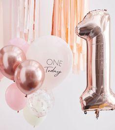 1. Geburtstag Ballon-Set mit Zahlenballon - rosa - 10-teilig First Birthday Balloons, Happy Birthday Bunting, Gold First Birthday, Birthday Roses, 1st Birthday Decorations, Gold Birthday Party, 1st Birthday Girls, Barbie Birthday, Special Birthday