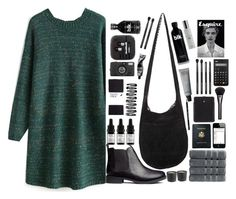 """""""Green"""" by hannahkate123 ❤ liked on Polyvore featuring moda, H&M, Lomography, Odacité, Aesop, Japonesque, Christy, Royce Leather, Alexander McQueen e Gucci"""