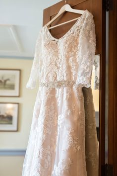 Dress Details | Behind the Gown | Lace | Lace Details | Red Fox Inn Wedding |  Candice Adelle Photography | VA DC MD Wedding + Families Photographer