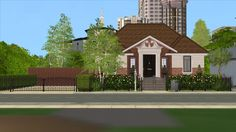 201 Custer Boulevard.First lot of Downtown is done! I love this little lot a lot :D I placed it right next to all the other big fancy ones, so I thought it would be funny if the Sims in this house...
