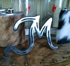 Custom Monogram Horseshoe Letters by RanchStudioArtworks on Etsy