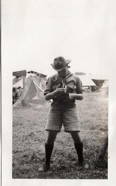 Boy Scout Photographer Vintage snapshot Photo on Etsy, $18.00