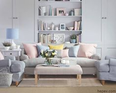 Pastel room ideas pastel blue bedroom pastel room decor pastel living room ideas for a cozy Pastel Living Room, Pastel Room, Pastel House, Living Room Interior, Home Living Room, Living Room Decor, Interior Livingroom, Living Area, Ideal Home Magazine