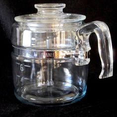 Pyrex Vintage USA Blue Flame 6-Cup Coffee Percolator #7756 c.1946-1970 #PyrexBlueFlame