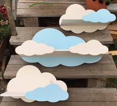 "Children's shelf ""cloud"", kid's shelf ""cloud"", Children's shelf, shelf in kids room."