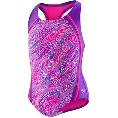 a10acee8c84 Speedo Girls  Printed Sport Splice (7-16)- Purple. Swimming GearKids ...