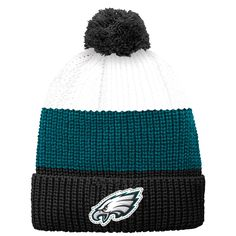 Philadelphia Eagles Youth Vintage Ribbed Cuffed Knit Hat - White/Black - $12.79