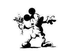 Mickey Mouse -Banksy by Eye-Saw Street Art Banksy, Banksy Graffiti, Banksy Prints, Bansky, Stencil Graffiti, Arte Do Mickey Mouse, Pop Art, Disney Designs, Desenho Tattoo