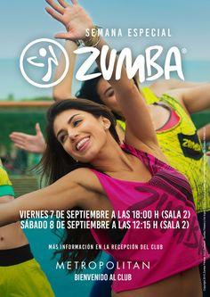 ¡Vuelven las clases más divertidas de #baile, no te pierdas la semana del #Zumba en #metropolitangym Iradier. Viernes 7 a las 18:00 h. en Sala 2 Sábado 8 a las 12:15 h. en Sala 2 ¡Te esperamos!