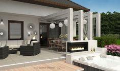 Projekt tarasu z jacuzzi - projekt indywidualny Green Design Jacuzzi, Landscape Architecture, Spa, Patio, Outdoor Decor, Design, Home Decor, Projects, Decoration Home