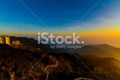 blurry backgrounds of landscap of mountain and road Royalty Free Stock Photo