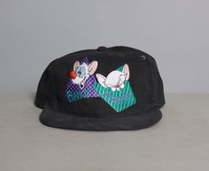 early 90s pinky & the brain #animaniacs #snapback hat #pinky