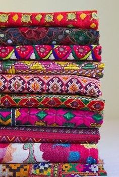 .So many bright beautiful colors and patterns