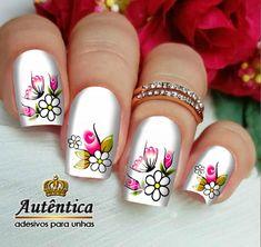 Special Nails, Nails Design With Rhinestones, Flower Nails, Nail Tutorials, Nails Inspiration, Nail Designs, Make Up, Nail Art, Mood