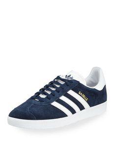 Men\'s Gazelle Original Suede Sneaker, Navy by Adidas at Neiman Marcus.