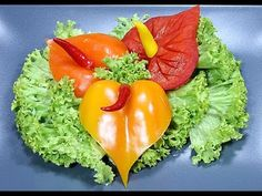 022. Free vegetable carving course pepper anthurium / Darmowy kurs carvingu anturium z papryki - YouTube