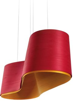 Handmade Wood Veneer Pendant #lamp NEW WAVE By @lzflamps