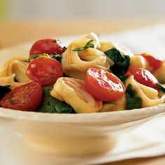 Tortellini with Spinach and Cherry Tomatoes | MyRecipes