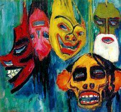 Emil Nolde – Masks – 1911 – The Nelson-Atkins Museum of Art, Kansas City, Missouri