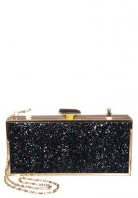 River Island - GLITTER - Clutch - black