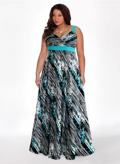 Reflections Plus Size Maxi Dress in Azure – SexyPlus Clothing Plus Size Skirts, Plus Size Maxi Dresses, Plus Size Outfits, Cute Dresses, Looks Plus Size, Curvy Plus Size, Plus Size Fashion For Women, Plus Size Women, Curvy Fashion