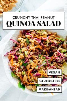 Quinoa Salad Recipes, Healthy Recipes, Healthy Salads, Whole Food Recipes, Vegetarian Recipes, Dinner Recipes, Cooking Recipes, Gluten Free Quinoa Salad, Meals With Quinoa