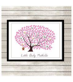 QUE ES?  Árbol de huellas ideal para nacimientos, bodas,cumpleaños, árbol de familia, etc.  Se envía en formato PDF listo para imprimir.   ES...