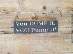 Septic Tank Bathroom Wood Sign. RV decor bathroom signs