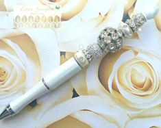 Wedding Guest Book Pen Wedding by EverGrayceKeepsakes on Etsy 48c647fd2
