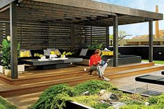 on the 1500 square foot deck an