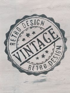 I like the vintage/retro vibe of this logo. Also that it is a stamp. Vintage Stamps, Vintage Prints, Vintage Posters, Retro Vintage, Silkscreen, Etiquette Vintage, Foto Transfer, Graphics Fairy, Custom Stamps