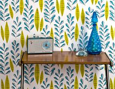 A mother and daughter team; Miss Print just loves mid-century illustration and Scandinavian design. Their wallpaper range is PEFC certified: the paper is derived from sustainable forests and is printed with organic pigment inks, which are non-toxic.  http://missprint.co.uk/index.htm