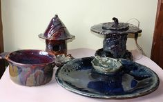 such a great blog with amazing pottery! the birdhouses are fabulous!