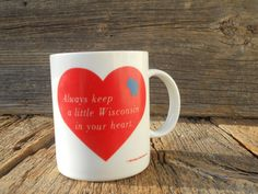 Wisconsin Mug Coffee Cup Cup by FindingFlora on Etsy, $6.00