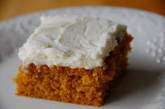 Barefoot and Baking: Pumpkin Bars with Cream Cheese Frosting