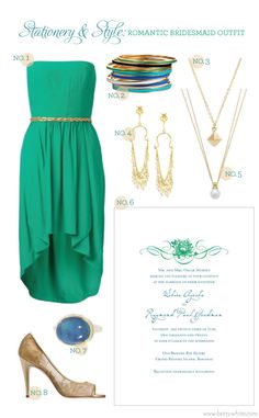 Stationery & Style: Romantic Bridesmaid Outfit