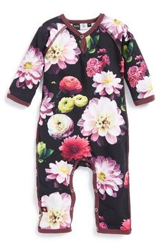 Molo 'Fiona' Cotton Blend Print Romper (Baby Girls) available at #Nordstrom