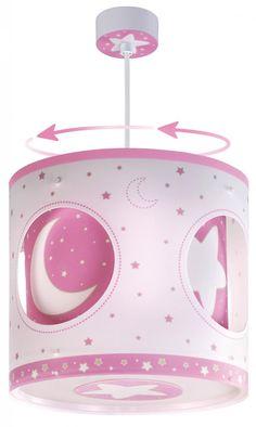 Pink Moon Περιστρεφόμενο Φωτιστικό Οροφής (carousel) Solar, Pink Moon, Moon Design, Ceiling Lamp, Carousel, Pink White, Diana, Kids Room, Bulb