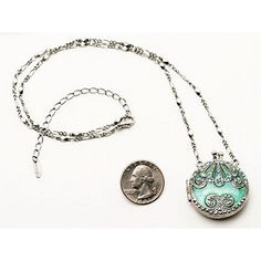 698 Vintage Victorian Teal Victorian Purse Locket Pendant -... ($20) ❤ liked on Polyvore featuring jewelry, necklaces, accessories, jewels, vintage pendant, vintage locket, victorian jewellery, victorian jewelry and chain pendants