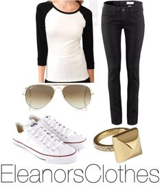 """""""Eleanor inspired sporty-ish outfit for a 1D concert"""" by eleanorsclothes ❤ liked on Polyvore"""