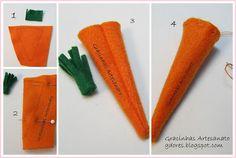 Felt carrot tutorial (1) by Gracinhas Artesanato