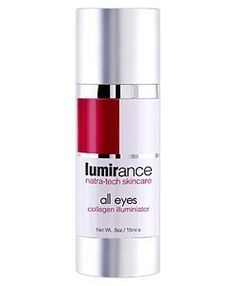 Lumirance All Eyes Collagen Illuminator by Natural Skin Shop. $78.00. WHAT IT IS Your eye area cure all.A luxurious blend of active vitamins, peptides and moisturizers.  WHAT IT DOES Moisturize, refine, de-puff, and uncircle your orbital area.  HOW TO USE IT Gently pat onto the skin.  WHY YOU WANT IT - Treats puffy eyes and dark circles. - Hyaluronic hydrates, plumps and nourishes. - Retinol rejuvenates & refines the epidermis. - Peptides minimize fine lines. - P...