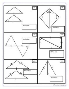Congruent Triangles Proving Vocabulary Cut Match Proof Bundle