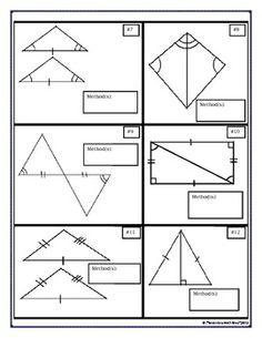 Math Teacher Mambo: Puzzle Sheet Congruent triangles | Geometry ...