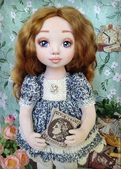Купить Николь. Коллекционная текстильная кукла - кукла текстильная, текстильная кукла, авторская кукла